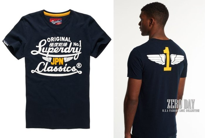 【零時差】英國Superdry極度乾燥專櫃真品Icarus Duo Reworked Classics T-Shirt藍
