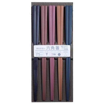☆龍歡喜精品☆ 日本製 SUNLIFE 耐熱 六角形 筷子 六角筷 合金筷 彩色無毒耐熱 廚房用品