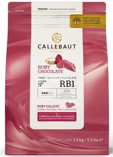 CALLEBAUT 嘉麗寶 紅寶石 巧克力粒 33% - 2.5kg 穀華記食品原料