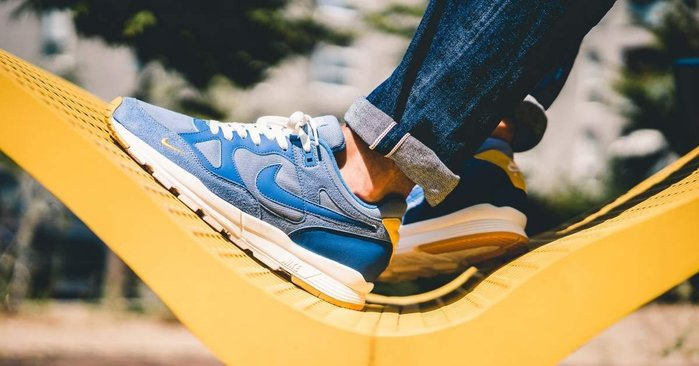 【Cheers】 Nike Air Span II AQ3120-400 藍黃 藍麂皮 限量 男鞋 黃底 歐洲限定