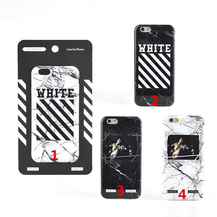 Phone 8 7 6s plus 潮牌 Off White 蘋果i8 plus手機殼 TPU全包 i7+保護套 軟殼