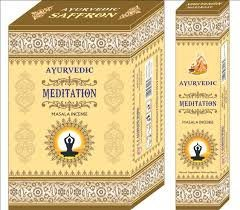 [綺異館] 印度線香 阿育吠陀 冥想 AYURVEDIC MEDITATION 新品上市 3盒100