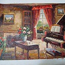 『家』油彩畫布手工油畫原作無框長寬約48x38公分一流油畫值得珍藏