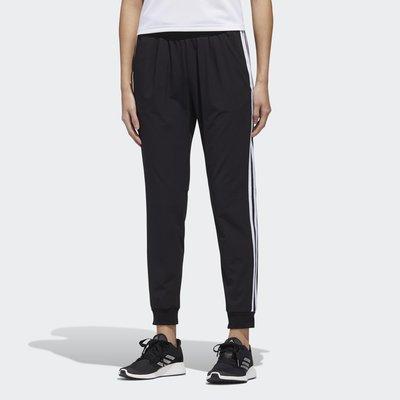 【RTG】ADIDAS MH WOVEN PANT 長褲 黑色 運動休閒 訓練 縮口 三條線 錦綸 女款 GF0112