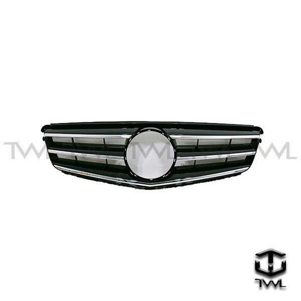 《※台灣之光※》全新BENZ W204跑車式Avantgarde大星黑色水箱罩 不附大星 台灣製