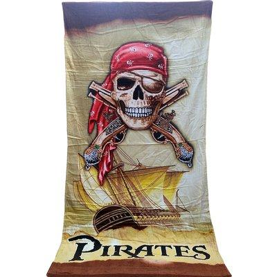 [現貨]海盜大浴巾 Pirates 加勒比海盜船 健身跑步運動巾 復古USA美式生日交換禮物