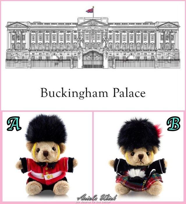 Ariel's Wish預購白金漢宮溫莎城堡英國倫敦代購皇家衛兵泰迪熊蘇格蘭裙鑰匙圈娃娃吊飾倫敦限定版9/30寄-兩款