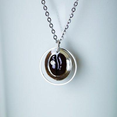 咖啡豆項鍊 - 真實咖啡豆創作  項鍊 咖啡豆 飾品 咖啡 禮物 情人節禮物 生日禮物