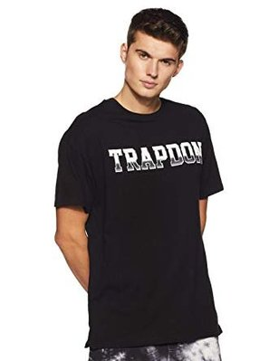 Cover Taiwan 官方直營 Trapdon 金屬字 漸層 嘻哈 電音 滑板 短袖 短Tee 美式 黑色 (預購)