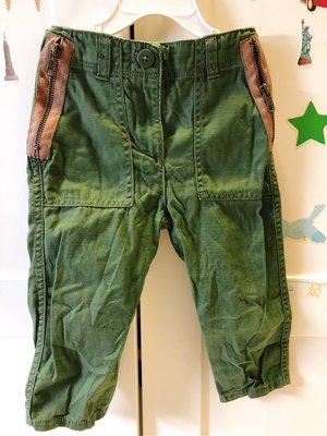 美國??crewcut童裝,2歲軍綠色長褲