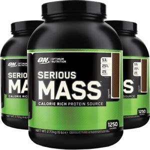 Optimum Nutrition Serious Mass金牌高熱量乳清蛋白6磅 巧克力口味