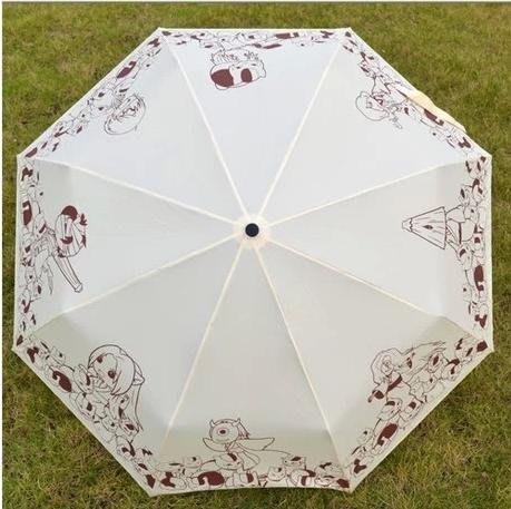 動漫周邊折疊傘夏目友人帳貓咪老師防曬防紫外線傘遮陽太陽晴雨傘 戶外雨傘 家居傘 太陽傘