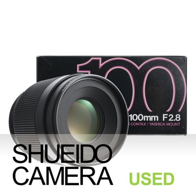 集英堂写真機【3個月保固】新同品 / CONTAX 蔡司 PLANAR T* 100mm F2.8 鏡頭 17893