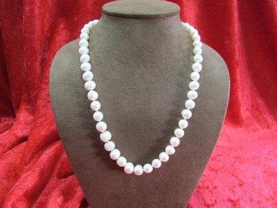 二手舖~ NO.14 天然珍珠項鍊 母親節 手鍊戒指墜子首飾手環耳環 (珍珠大小約7-10mm)