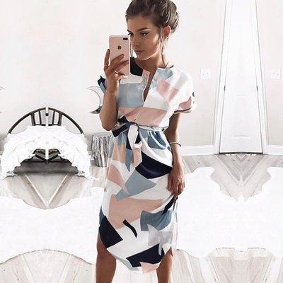 寶島小甜甜~Women Party Dresses Summer Boho Beach Loose Dress Plus Size