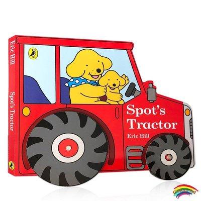 小波的拖拉機Spot's Tractor英文原版  兒童啟蒙認知繪本紙板書撕不爛耐撕 進口造型異形書可搭Spot's F
