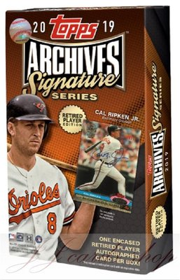 2019 Topps Archives Signature Retired Player Ed 退休球星版 棒球卡 卡盒