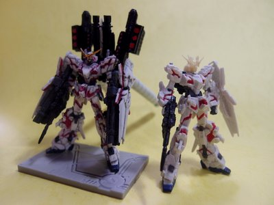 1/400 gundam collection RX-0 FA  red frame