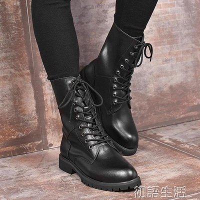 秋季男靴子韓版潮流馬丁靴男高筒雪地沙漠工裝鞋軍靴皮靴
