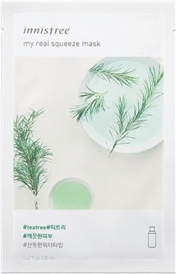 innisfree my real squeeze mask teatree 茶樹面膜 新包裝