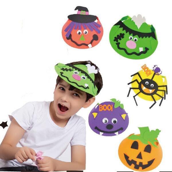 兒童手工DIY萬聖節南瓜蝙蝠鴨舌帽材料包【HW0154】《Jami Honey》