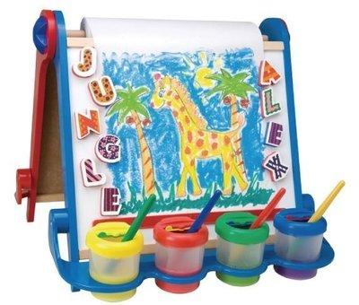 媽媽寶寶租 售美國進口ALEX 折疊式兒童專用雙面畫架(桌上型) 超值組合