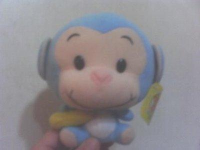 全新可愛大頭藍猴