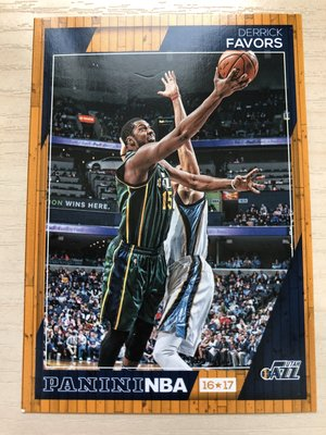 Derrick Favors #49 2016-17 Panini NBA Hoops