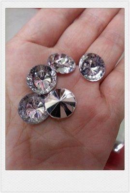 珠寶捧花材料---k91尖底壓克力水鑽10mm下標處