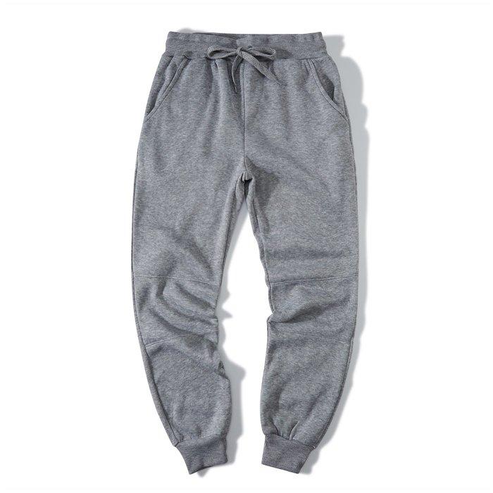 ZEBRA-【FBG3155】型男 素面 3色 鬆緊 綁帶 縮口 運動 刷毛 棉褲 休閒長褲 M/XL 特價300 元