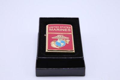 Zippo 黃銅US MARINES美軍海軍陸戰隊 紀念打火機