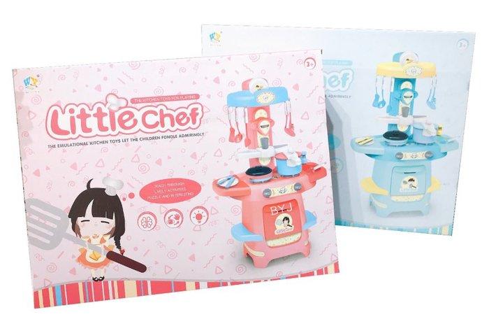 【好孩子福利社】兒童仿真噴霧廚房玩具 過家家煮飯餐台套裝 燈光音效炒菜廚具