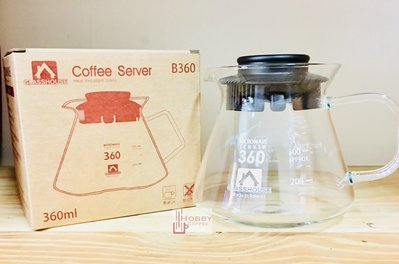 【豐原哈比店面經營】☆台灣製造☆GLASSHOUSE 方型手把耐熱咖啡壺 玻璃壺-360CC  另有600CC可選擇