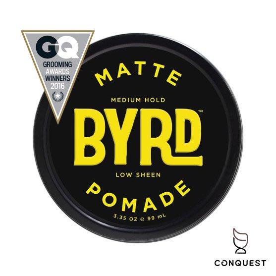 【 CONQUEST 】BYRD MATTE Pomade 3.35oz 無光澤痞霜髮蠟 髮油 手撥造型 原廠授權經銷