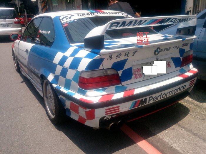BMW E36 DTM 四件式加高雙層尾翼 蘆洲可取