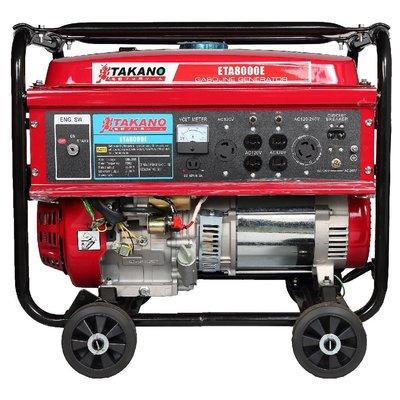 全新 發電機-高野 TAKANO - 7000W - ETA8000E -拉繩盤&電啟動