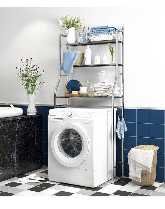 不鏽鋼 滾筒式洗衣機置物架 滾筒洗衣機架 壁掛收納架 不銹鋼滾筒式層架 小物收納架 洗衣精架 (再送2曬鞋勾)