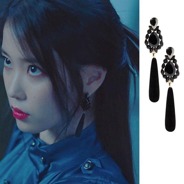 預購-韓劇同款德魯納酒店IU同款耳環高級感耳釘2019新款潮個性網紅小眾法式百搭