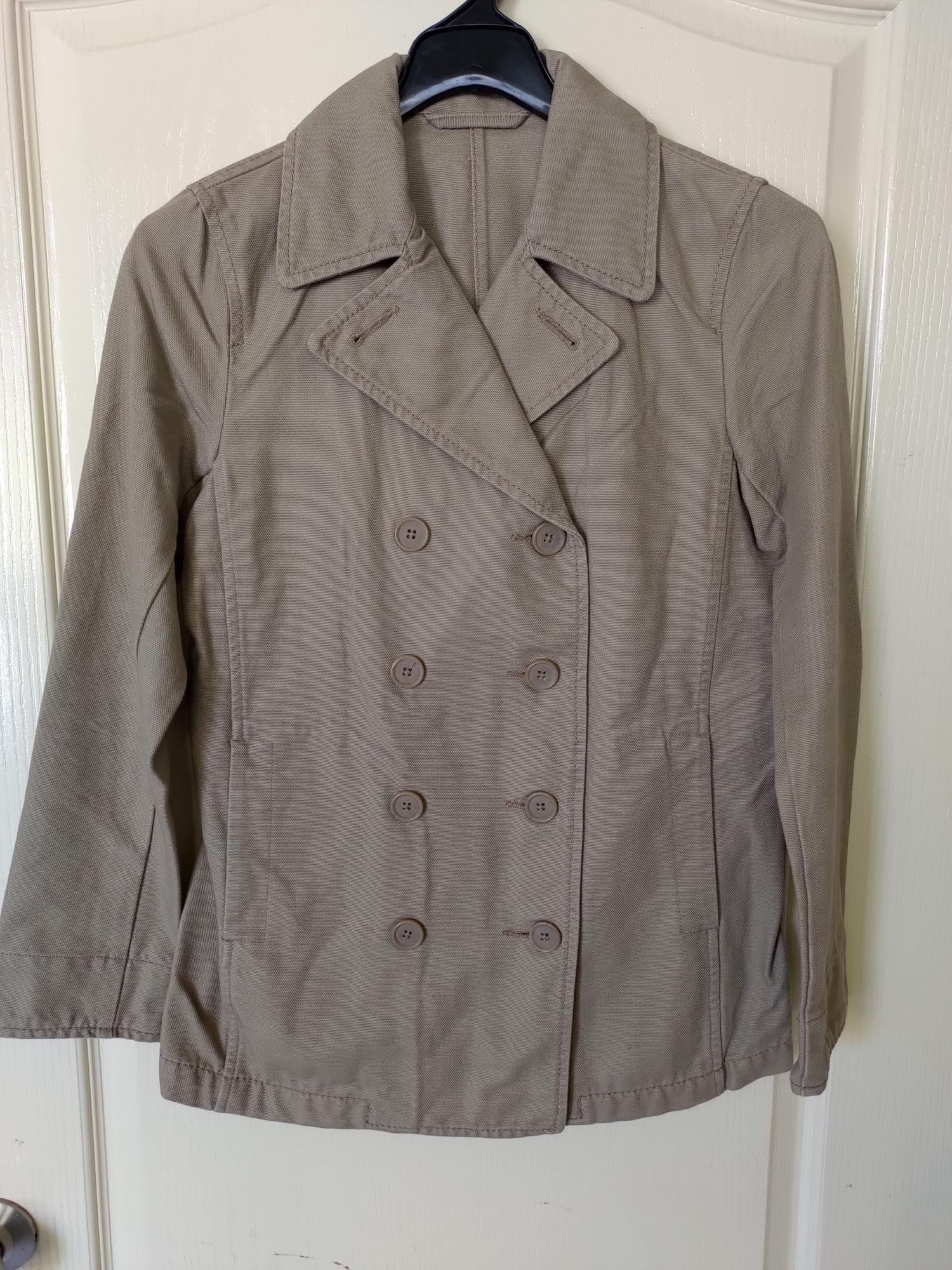 [99go] 日本 無印良品專櫃 大地色系 短版 類牛仔布風衣 外套 S號 越南製