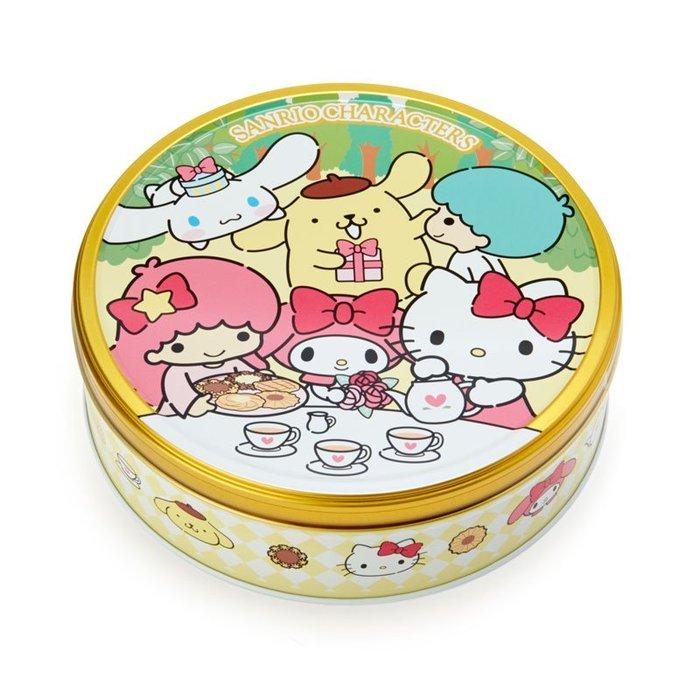 41+現貨不必等 日本製 三麗鷗人物 罐裝 餅乾 禮盒 圓形鐵盒 KITTY 兩款可選 @my4165 小日尼三