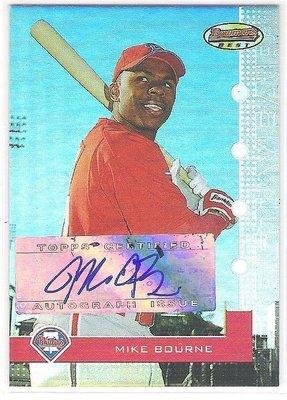 2005 BOWMAN'S BEST  #113 MIKE BOURN  RC  AUTO 156/974   限量新人簽名卡