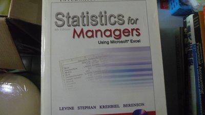 【媽咪二手書】Statistics for Managers Using Microsoft Excel  6鐵