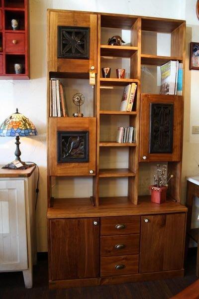 原木工坊~空間配置室內設計  實木家具台灣製造  歐風窗花收納櫃