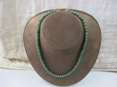 二手舖 NO.2994 天然翡翠 玉石項鍊 墨綠 首飾飾品