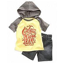 【安琪拉 美國童裝】CK Calvin Klein 套裝組- 黃色連帽T恤上衣+牛仔褲, 另有Carter's / Gymboree