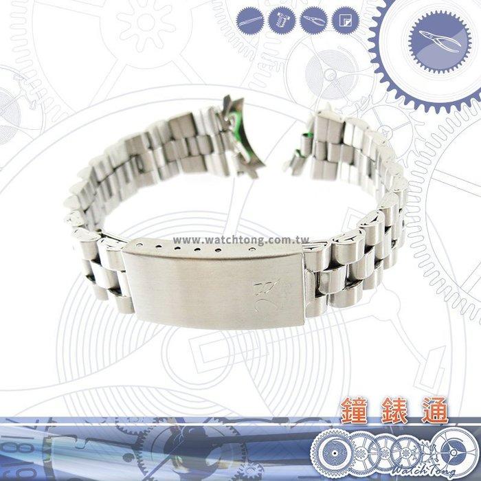 【鐘錶通】板折帶 金屬錶帶 B 97S17 - 17mm 銀色