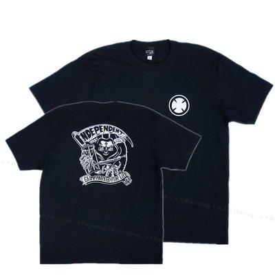 【 K.F.M 】INDEPENDENT For Life Tee 滑板輪架元老級 短袖 Logo 美國圓筒T 黑色