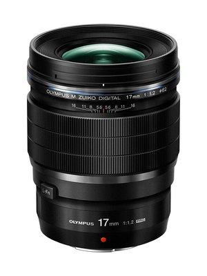 【高雄四海】Olympus M.Zuiko ED 17mm F1.2 PRO 全新平輸一年保固.定焦廣角大光圈.黑色