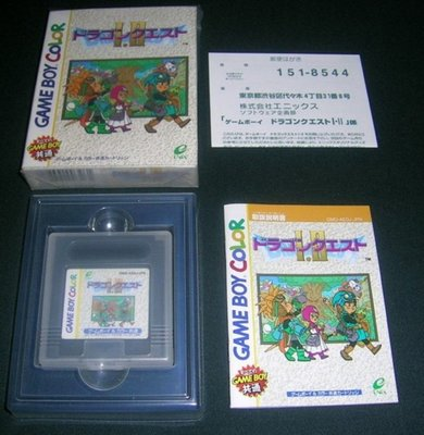 GAME BOY COLOR DRAGON QUEST I and II 1 ENIX 勇者鬥惡龍 日版 正版