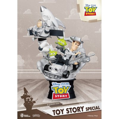 全新 Beast Kingdom D-Stage  ~ Disney Toy Story 4 Woody & Buzz 三眼仔 反斗奇兵 巴斯光年 胡迪
